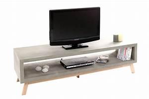 Meuble Tv Beton : meubles en b ton c est la tendance evasiondeco ~ Teatrodelosmanantiales.com Idées de Décoration