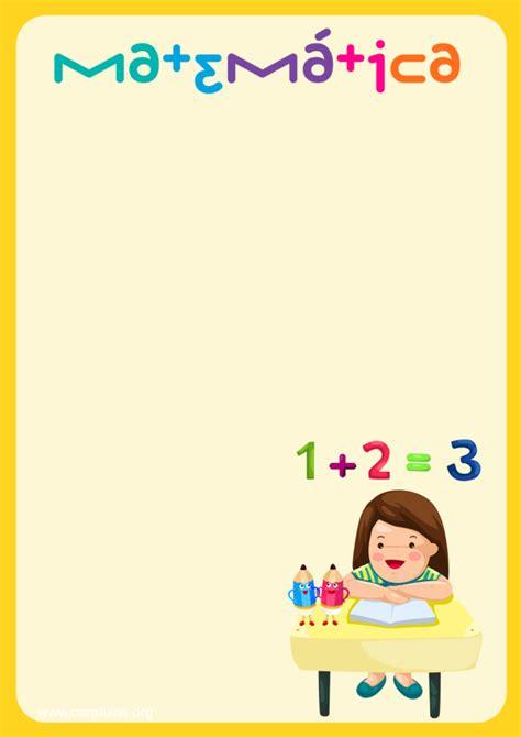 caratula matematicas primaria
