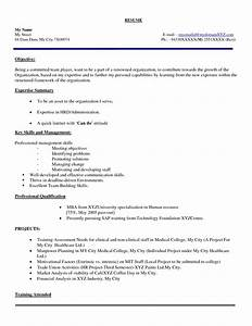 mba hr fresher resume models sidemcicekcom With cover letter for hr fresher job