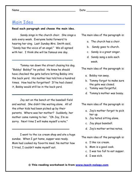 Main Idea In Three Sentences