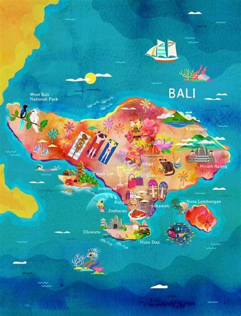bali map activities  tours  bali voyage bali