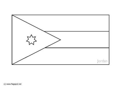 Jordan Flag Coloring Pages Learny Kids