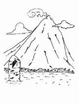 Coloring Mountain Mountains Ausmalbilder Berge Range Kostenlos Template Nature Malvorlagen Ausdrucken Zum sketch template