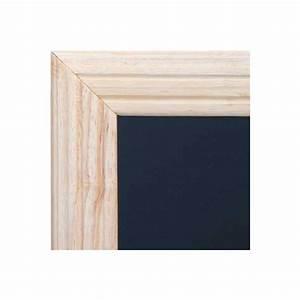 Tableau Ardoise Murale : ardoise tableau noir 50 x 60cm double face avec cadre bois vernis couleur naturel usage ~ Preciouscoupons.com Idées de Décoration