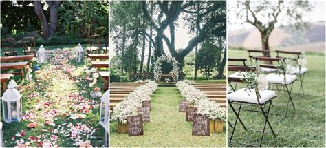 rustic outdoor wedding ceremony decorations