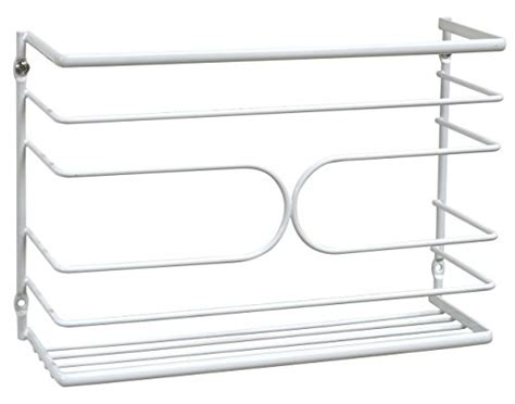 kitchen wrap storage rack decobros wall door mount kitchen wrap organizer rack 6581
