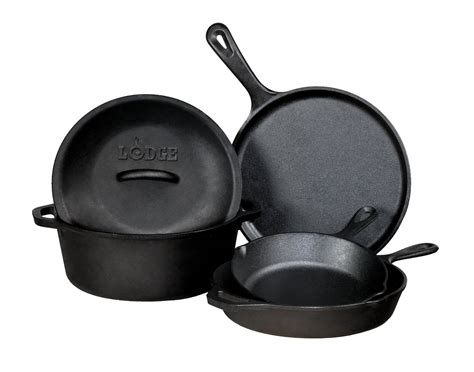 iron cast lodge cookware piece skillet pans pan pot griddle cooking cook skillets kitchen pieces castiron inch down mountain food