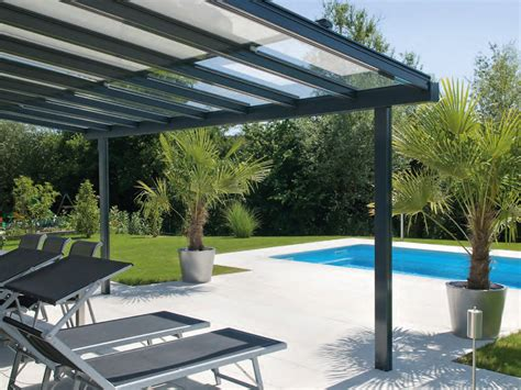 glass and aluminium pergola terrado glass roof system collection by stobag