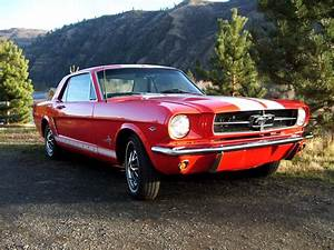 POPPY RED RESTO/MOD 1965 FORD MUSTANG WHITE SHELBY RACING STRIPES 302 CI ENGINE for sale in ...