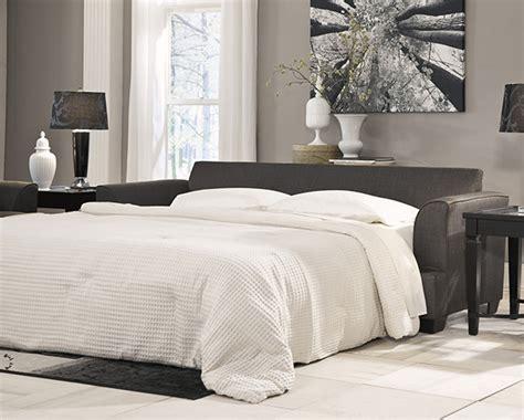 ashley furniture levon sleeper sofa levon charcoal queen sofa sleeper with memory foam