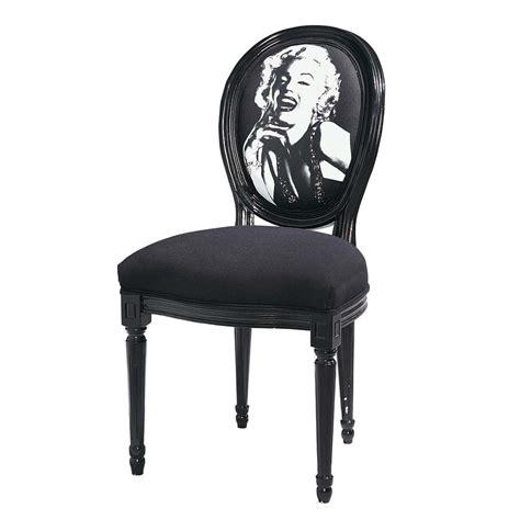 chaise médaillon maison du monde chaise médaillon imprimée marilyn en coton et bois noir louis maisons du monde