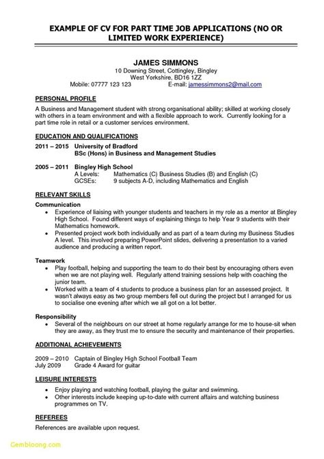 inspiring   resume examples  students
