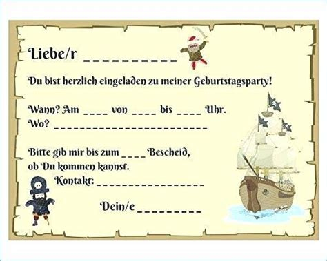 einladung kindergeburtstag pirat basteln idee piraten