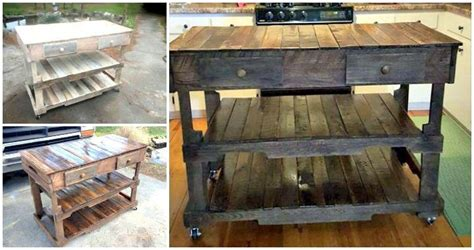 kitchen island made from pallets pallets made kitchen island easy pallet ideas 8198