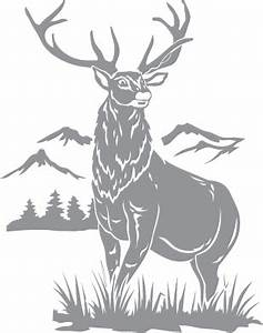 Stag and Mountain Scene Pre-cut Patterns