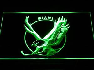 Miami Screaming Eagles Logo LED Neon Sign Legacy Edition