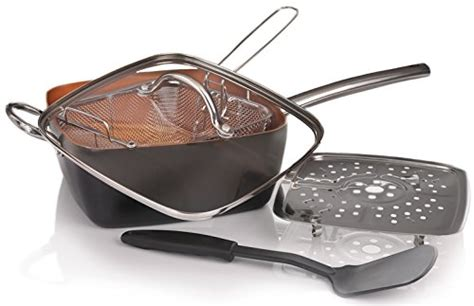 willow everett copper pan  piece cookware set review red copper pan reviews