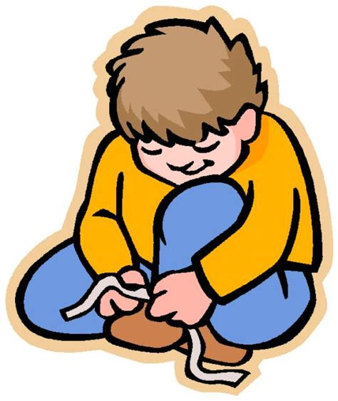 Image result for clip art shoe tying