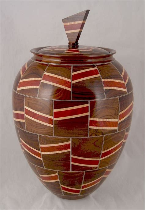 bolivian rosewood urn  front segmented bowls wood