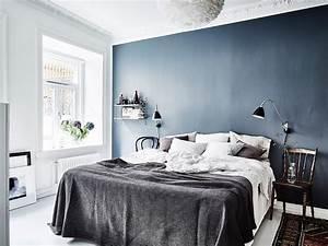 Blue, Bedroom, Wall