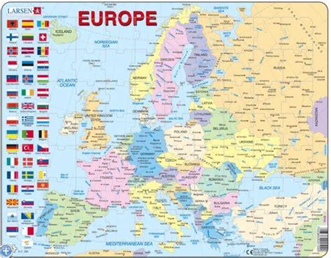 Carte Routière De L Europe 2017 by Puzzle Cadre Carte De L Europe En Fran 231 Ais Larsen K2t