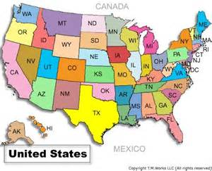 United States Geography Map