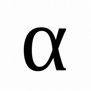 Alpha letter