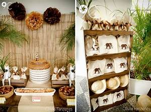 baby shower party decoration with rainforest theme safari
