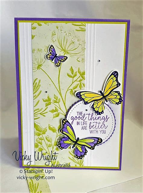 Botanical Butterfly DSP Butterfly cards Handmade cards