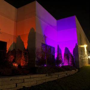 Color w rgb led flood light outdoor garden landscape