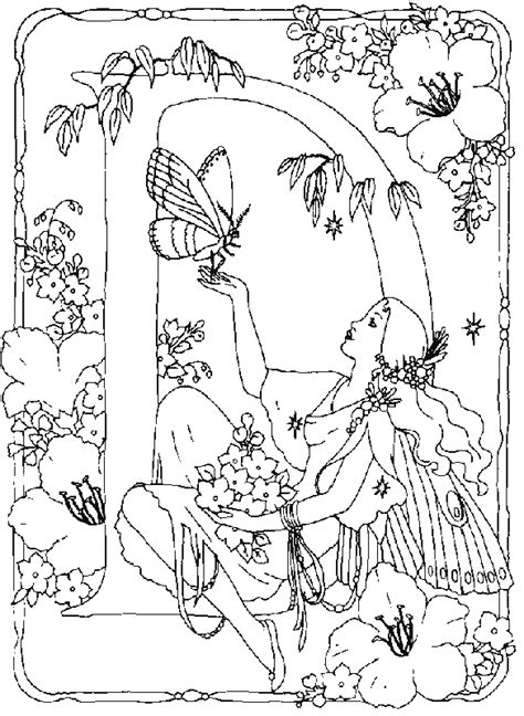 Alphabet Fairy D Coloring Pages In this page you can find
