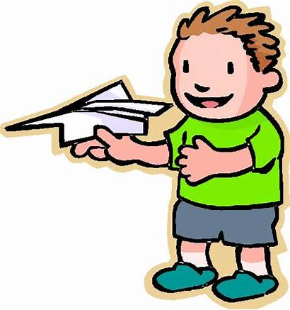 Paper Airplane Plane Boy Clip Clipart Flying