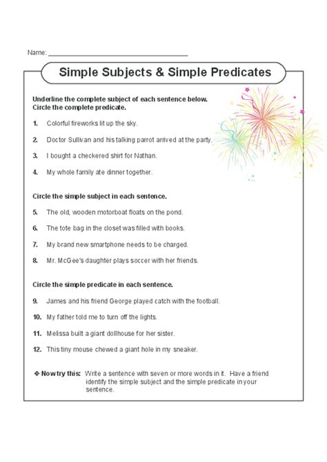 pin by elizabeth b on teaching subject predicate