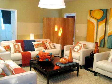 modern home interior color schemes how to use orange and blue color schemes for modern