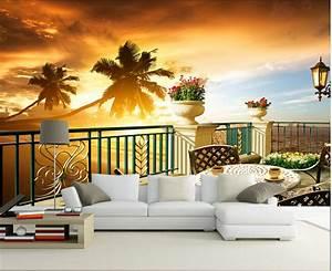 Aliexpress.com : Buy Custom 3D photo wallpaper, sunset ...