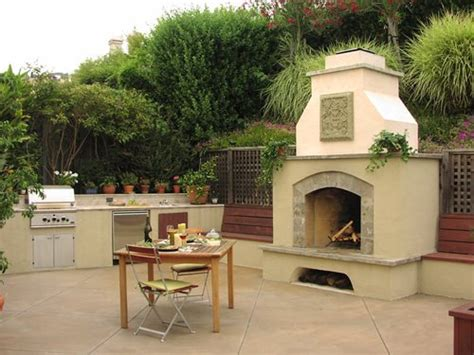 outdoor stucco fireplace outdoor fireplace design styles landscaping network