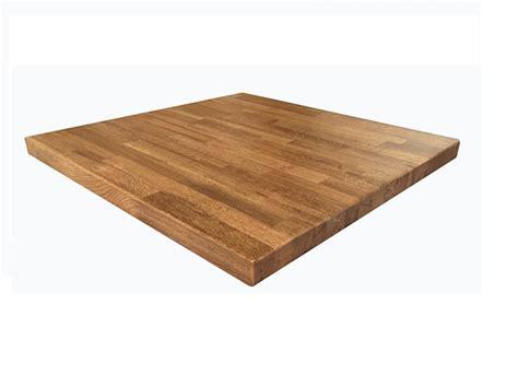 English White Oak Finish Butcher Block Table Tops