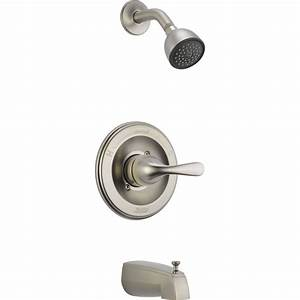 Delta Classic Stainless Steel Finish Tub And Shower Combo