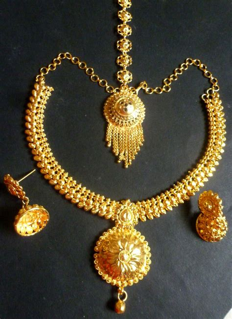 22k gold plated indian wedding 8 bridal necklace earrings c ebay