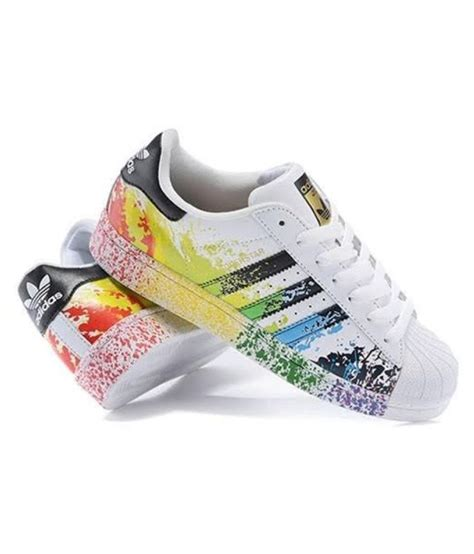 adidas color adidas superstar splash sneakers multi color casual shoes