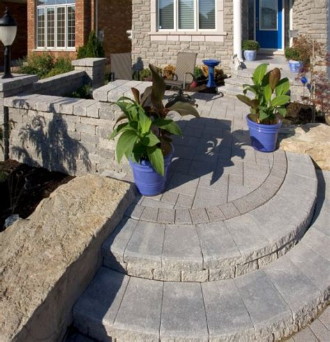 unilock stack unilock paver steps and entrance with series 3000 photos