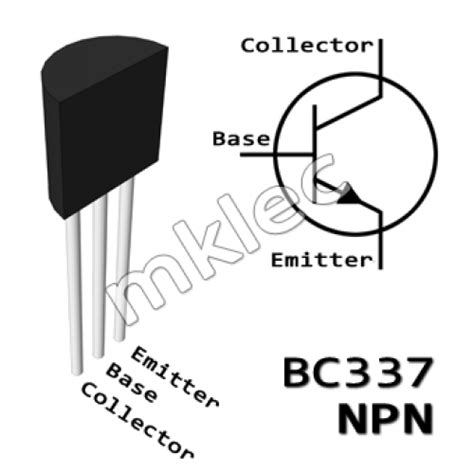 push in wire connectors bc337 npn to 92 amplifier transistor
