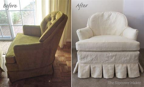 Valanced Armchair Cover And Cushion