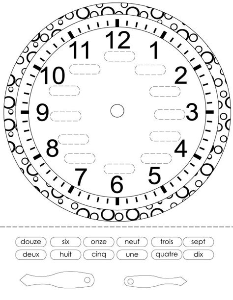 french printouts for children time french worksheets