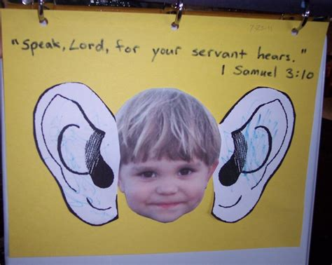 speak lord for your servant hears samuel bible bible 932 | 9d7b11df97b6a6360e2d5a465f57c15b preschool bible crafts bible story crafts
