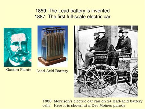 who invented the electric l ppt batteries fuel cells powerpoint presentation id
