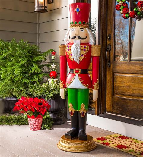 christmas soldier steps to drawyard sign sized nutcracker statue in outdoor decorations nutcrackers nutcracker