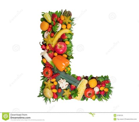 letter l made of fruit and vegetable stock photo alphabet of health l stock image image of design 55981