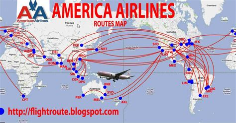 australian airlines: American Airlines routes map