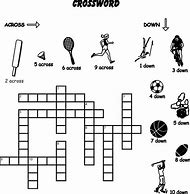 Easy Printable Sports Crossword Puzzles For Kids